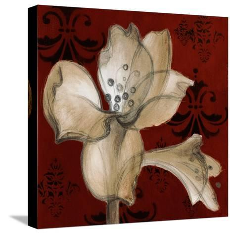 Amaryllis on Red I-Lanie Loreth-Stretched Canvas Print
