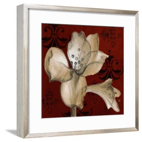 Amaryllis on Red I-Lanie Loreth-Framed Art Print