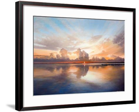Sunset over Lake-Bruce Nawrocke-Framed Art Print
