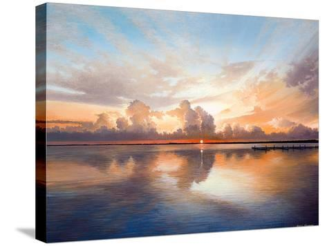 Sunset over Lake-Bruce Nawrocke-Stretched Canvas Print