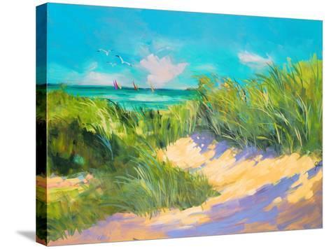 Blue Grass Breeze I-Jane Slivka-Stretched Canvas Print