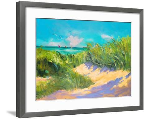 Blue Grass Breeze I-Jane Slivka-Framed Art Print