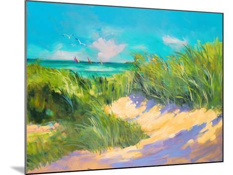 Blue Grass Breeze I-Jane Slivka-Mounted Premium Giclee Print