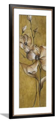 Translucent Magnolias on Gold-Lanie Loreth-Framed Art Print