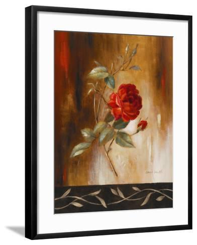 Crimson Rose I-Lanie Loreth-Framed Art Print
