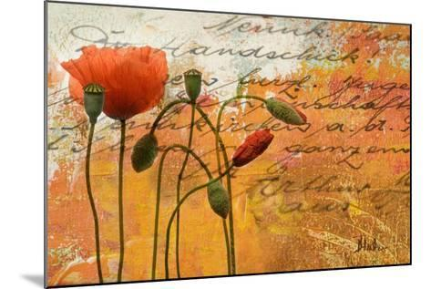 Poppies Composition I-Patricia Pinto-Mounted Premium Giclee Print