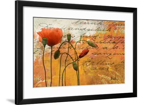 Poppies Composition I-Patricia Pinto-Framed Art Print