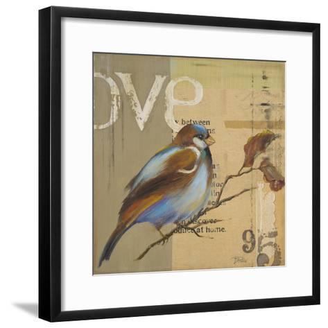 Blue Love Birds II-Patricia Pinto-Framed Art Print