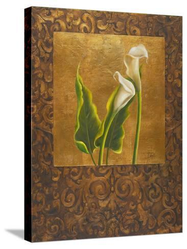 Calla Lily with Arabesque II-Patricia Pinto-Stretched Canvas Print