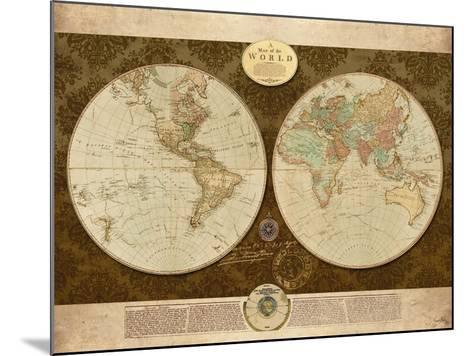 Map of World-Elizabeth Medley-Mounted Premium Giclee Print