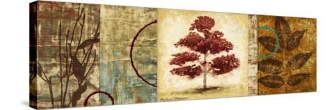 Red Tree Panel II-Michael Marcon-Stretched Canvas Print