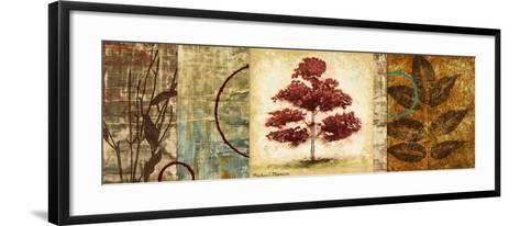 Red Tree Panel II-Michael Marcon-Framed Art Print