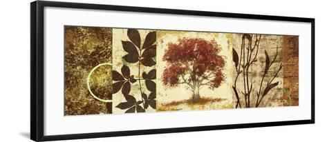 Red Tree Panel I-Michael Marcon-Framed Art Print