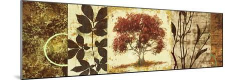 Red Tree Panel I-Michael Marcon-Mounted Premium Giclee Print