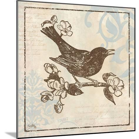 Bird Woodcut I-Elizabeth Medley-Mounted Premium Giclee Print