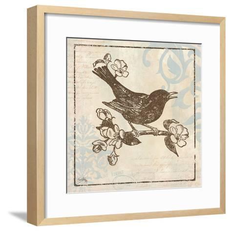 Bird Woodcut I-Elizabeth Medley-Framed Art Print
