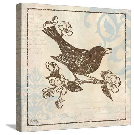 Bird Woodcut I-Elizabeth Medley-Stretched Canvas Print