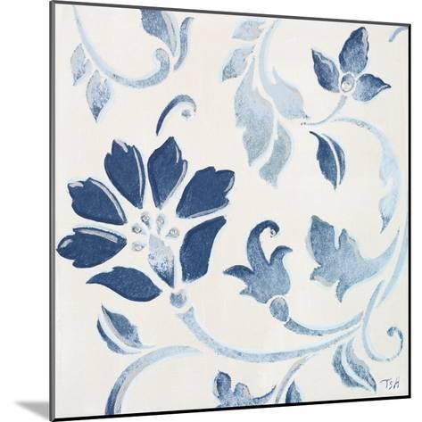 Blue Floral Shimmer I-Tiffany Hakimipour-Mounted Premium Giclee Print