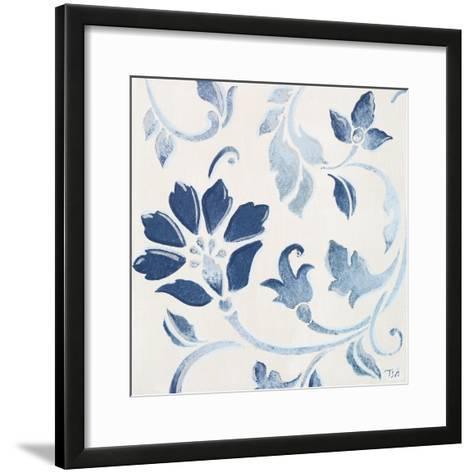 Blue Floral Shimmer I-Tiffany Hakimipour-Framed Art Print
