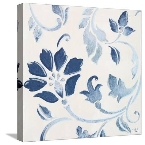 Blue Floral Shimmer I-Tiffany Hakimipour-Stretched Canvas Print