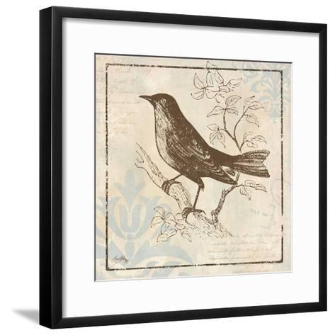 Bird Woodcut II-Elizabeth Medley-Framed Art Print