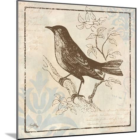 Bird Woodcut II-Elizabeth Medley-Mounted Premium Giclee Print