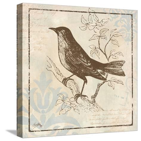 Bird Woodcut II-Elizabeth Medley-Stretched Canvas Print