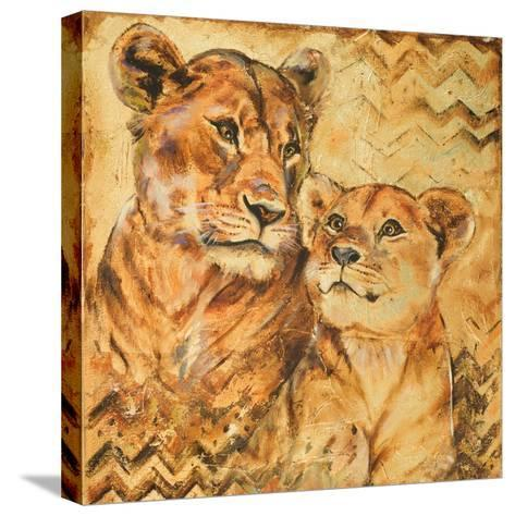 Safari Mother and Son II-Patricia Pinto-Stretched Canvas Print