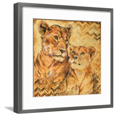 Safari Mother and Son II-Patricia Pinto-Framed Art Print