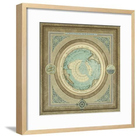 North and South Map II-Elizabeth Medley-Framed Art Print
