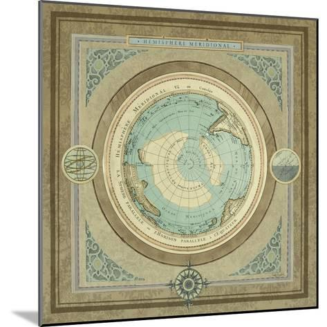 North and South Map II-Elizabeth Medley-Mounted Premium Giclee Print