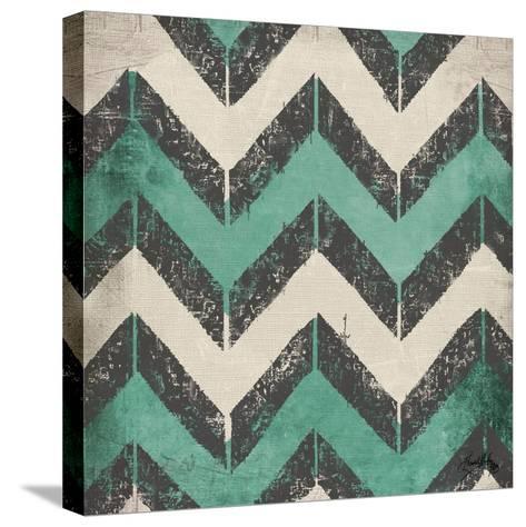Turquoise Modele I-Elizabeth Medley-Stretched Canvas Print