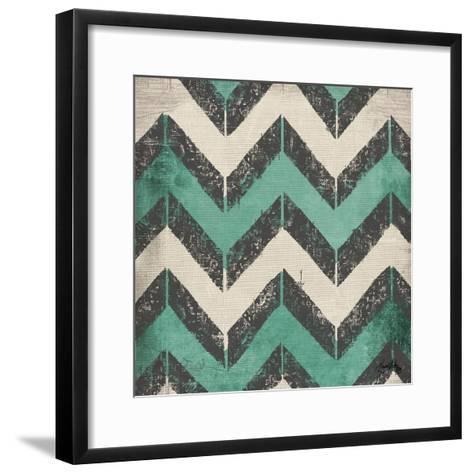 Turquoise Modele I-Elizabeth Medley-Framed Art Print