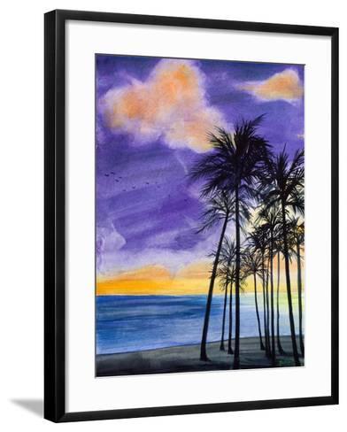 Tropic Nights II-Linda Baliko-Framed Art Print