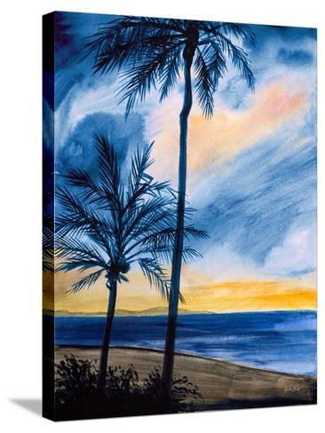 Blue Tropic Nights I-Linda Baliko-Stretched Canvas Print