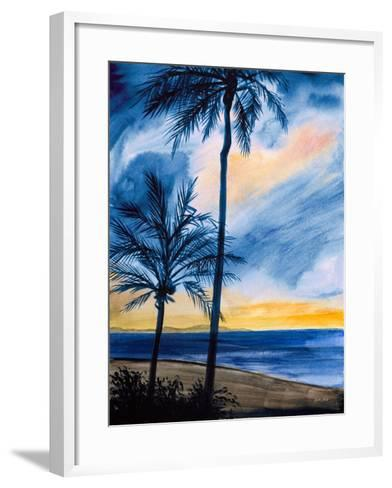 Blue Tropic Nights I-Linda Baliko-Framed Art Print