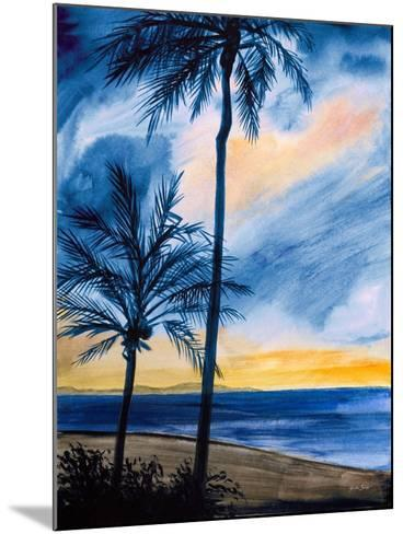 Blue Tropic Nights I-Linda Baliko-Mounted Premium Giclee Print