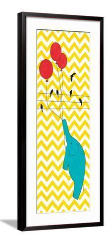 Floating Elephant--Framed Art Print