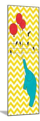 Floating Elephant--Mounted Premium Giclee Print
