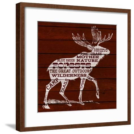 Moose Text--Framed Art Print