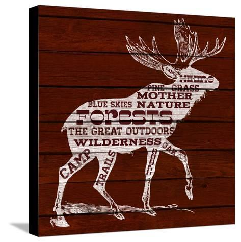 Moose Text--Stretched Canvas Print