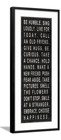 Be Humble (Use Kind Words)--Framed Art Print