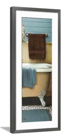 Blue Bain Panel III-Elizabeth Medley-Framed Art Print