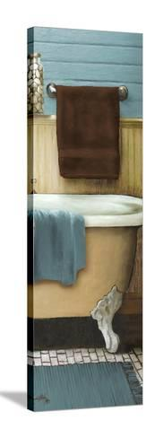 Blue Bain Panel III-Elizabeth Medley-Stretched Canvas Print