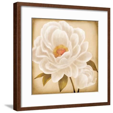 White Peonies I-Vivien Rhyan-Framed Art Print