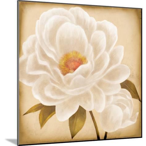 White Peonies I-Vivien Rhyan-Mounted Art Print