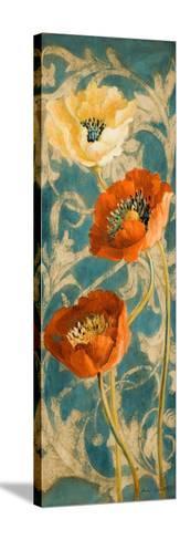 Poppies de Bleu II-Lanie Loreth-Stretched Canvas Print