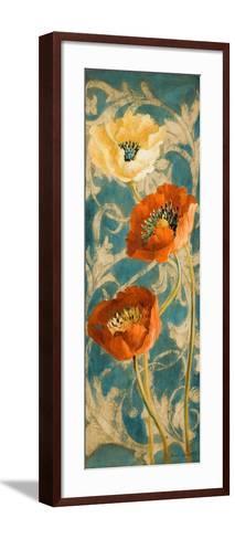Poppies de Bleu II-Lanie Loreth-Framed Art Print