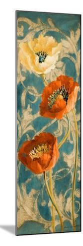 Poppies de Bleu II-Lanie Loreth-Mounted Art Print