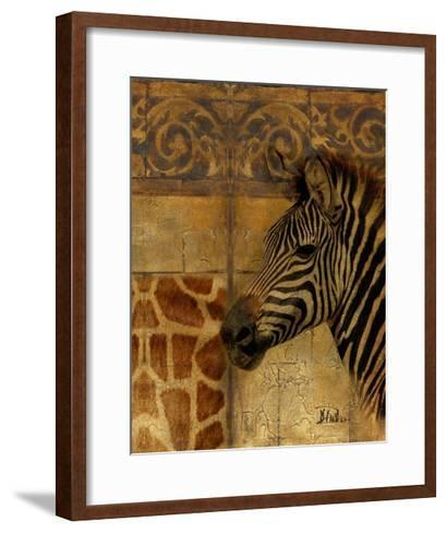 Elegant Safari I (Zebra)-Patricia Pinto-Framed Art Print